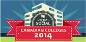 Winner of the Top Social Canadian Colleges award of 2014